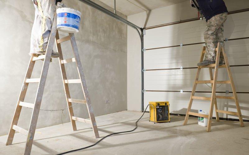 nagrzewnica elektryczna na budowie